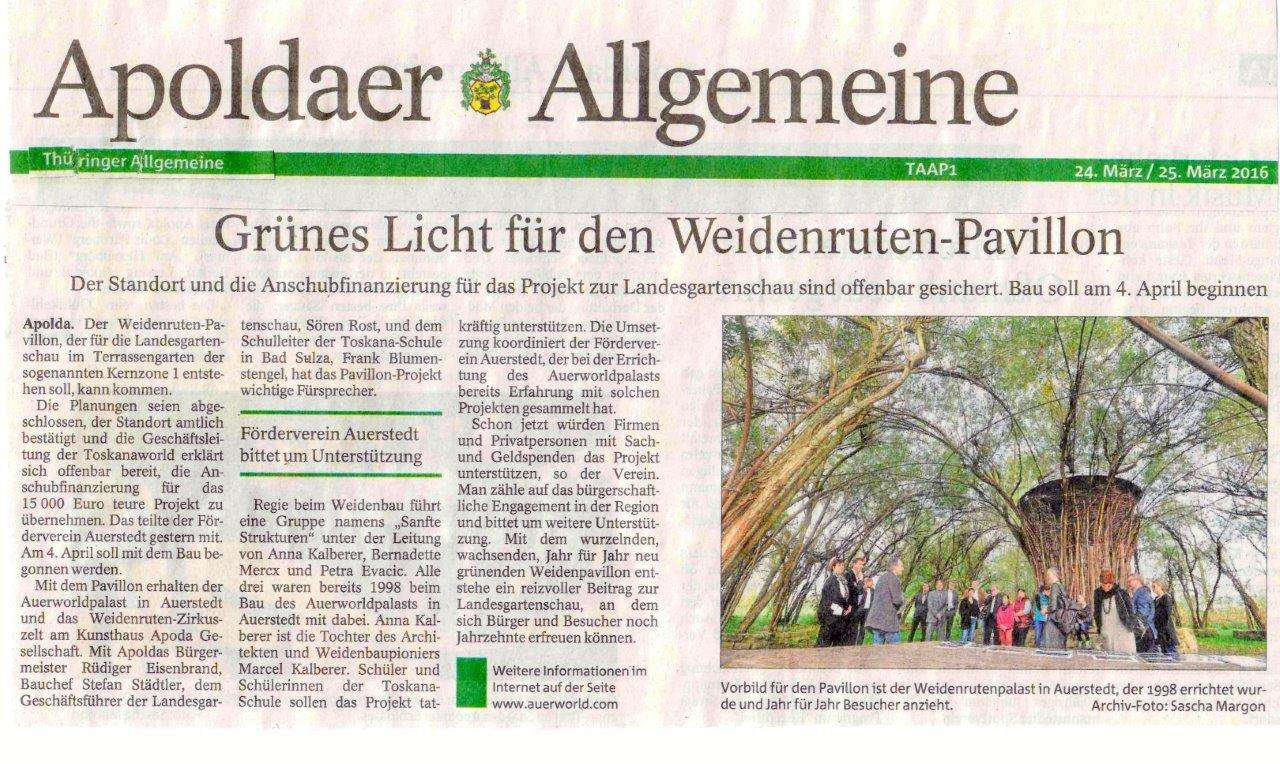 Apoldaer Allgemeine 24.03.2016